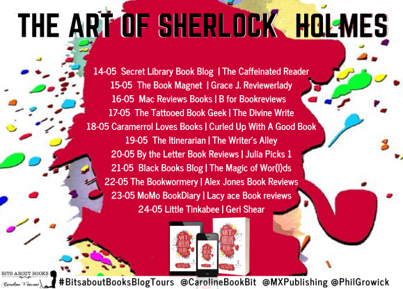 Blog Tour Poster The Art of Sherlock Holmes